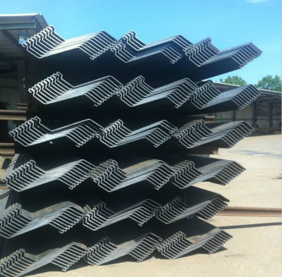 Anchored Bulkhead Interlocking Z Sheet Pile